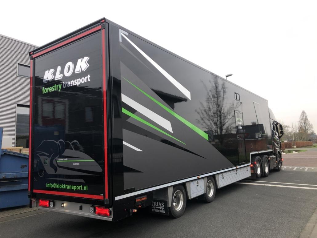 Volvo, FH, Truck, vrachtwagen, aanhanger, combinatie, wrapping, bestelbus, signing, bedrijfsbus, bedrijfsauto, wrappen, beletteren, reclame